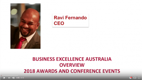 Ravi Fernando – Talking about Business Excellence Australia